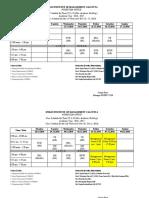 Class Schedule Term-VI