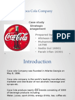 Strategic tools on Coke