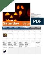 october calendar- lesson guideline