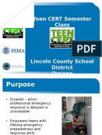 Teen Cert Overview Presentation