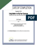 edwebtv certificate