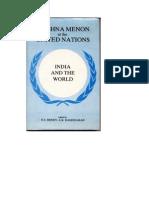 Krishna Menon at the United Nations - India and the World, 1990