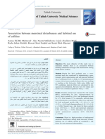 Association Between Menstrual Disturbances and Habitual Use
