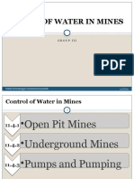 Control of Water in Mines