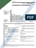 NBR 5462 - Confiabilidade e Mantenabilidade