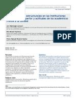 Configuraciones Estructurales en Las Instituciones de La Educacion Superior
