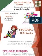 TIPOLOGIAS TEXTUALES