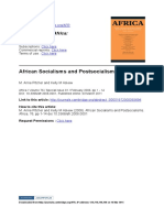 M. Anne Pitcher and Kelly M Askew - African Socialisms and Postsocialisms