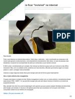 olhardigital.uol.com.br-Confira 10 dicas para ficar invisível na internet
