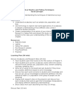 Statistics Ch 4 Project Lesson Plan