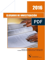 2016 Glosario de Investigación