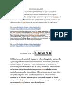 Definición Delago , Laguna e Hidrografia