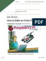 Servidor Con Raspberry Pi Tor Onion