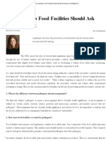 Five Questions Food Facilities Should Ask About Testing