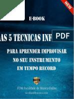 E-book as 5 Tecnicas Infaliveis Para Improvisar No Seu Instrumento