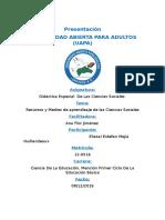Tarea 5 de Didactica Especial en La Ciencias Sociales