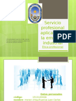 Servicio profesional aplicado en la empresa industrial.pptx
