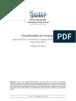 Une Philosophie Du Numérique Présentation par Sens Public