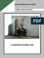 Binome Incendie Isere 2007