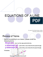 5 Equations of a Line (1)