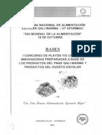 Bases Concurso Platos Innovadores 2016 - Andahuaylas