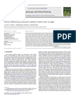 Factors Influencing a Motorists Ability to Detect Deer at Night