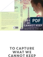 To Capture What We Cannot Keep by Beatrice Colin - excerpt