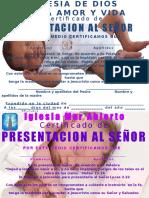 Certificado de Presentacion