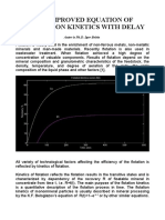 THE IMPROVED EQUATION OF FLOTATION KINETICS WITH DELAY