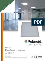 Polaroid Leaflet Panel Sensor Dimmable Eng