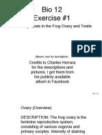 Bio12 Exercise #1