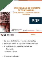 Disponibilidad de Sistemas de Transmisión Pablo Medina