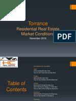 Torrance Real Estate Market Conditions - November 2016