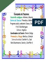 Cronograma de Programas 2014-2015
