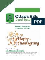 ottawa hills district newsletter 111816