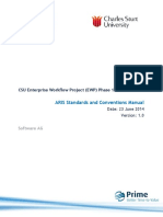 CSU ARIS Modelling Standards and Conventions Manual V1 0