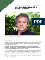 Autor Português José Luiz Peixoto é o Vencedor Do Prêmio Oceanos - 06-12-2016 - Ilustrada - Folha de S