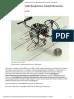 World's Smallest Cyclocopter Brings Unique Design to Microdrones - IEEE Spectrum