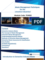 Sustainable Waste Management Techniques for the Extractive Industries - Lecturer