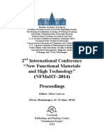 """2nd International Conference  """"New Functional Materials  and High Technology"""" ( (N NF FM Ma aH HT T– –2 20 01 14 4) )   P Pr ro oc ce ee ed di in ng gs s   Editor"""