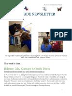 week of december 5 - 7th grade newsletter