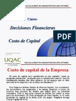 Costo Capital BADA 8