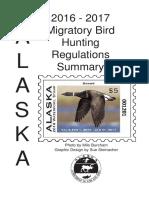 Migratory Bird Hunting Regulations Summary