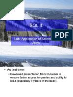 Lecture 05. Data Manipulation in SQL II v2
