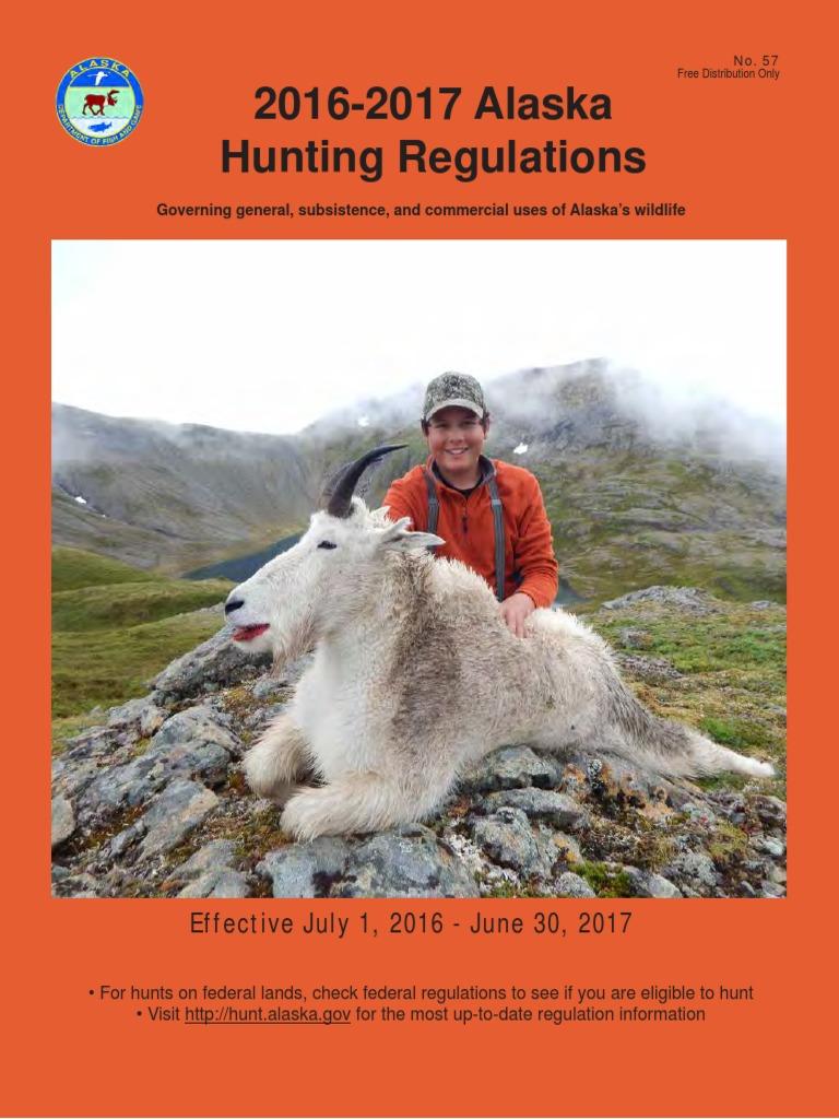 Alaska 2016 hunting regulations hunting alaska sciox Choice Image