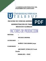 Monografia Factores de Produccion