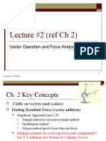 2-Vector Operation and Force Analysis