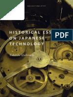 Hashimoto Takehiko Historical Essays on Japanese Technology