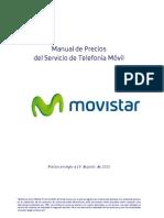 Manual de Precios del servicio de telefonia movil Movistar Espana Contrato