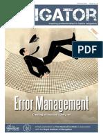 2016 Oct the Navigator - Error Management
